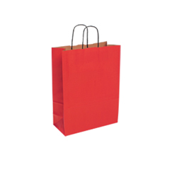 Large Red Kraft Paper Bag