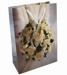 Large Wedding Flowers Paper Gift Bag
