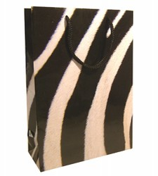 Medium Zebra Paper Gift Bag