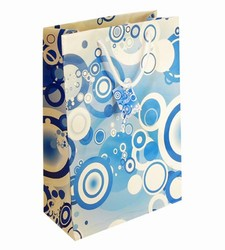 Large Blue Circles Paper Gift Bag
