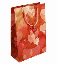 Large Hearts Paper Gift Bag