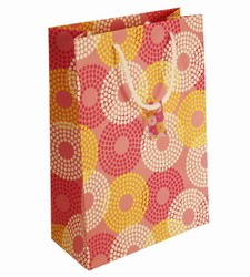 Large Pink Circles Paper Gift Bag
