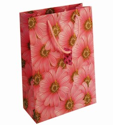 Large Pink Flowers Paper Gift Bag