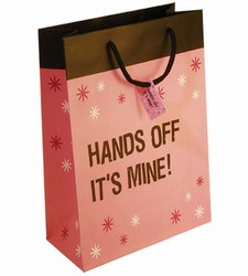 Hands Off it's Mine Paper Gift Bag