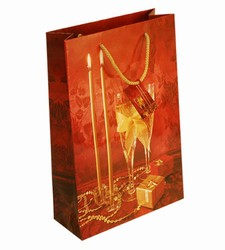 Medium Champagne Paper Gift Bag