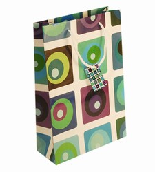Medium Blue Seamless Paper Gift Bag
