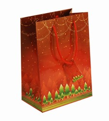 Medium Red Xmas Paper Gift Bag