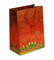 Large-Red Xmas-Christmas Gift  Bags with Gift Tag