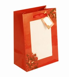 Large-Red Bow-Paper Bags with Gift Tag