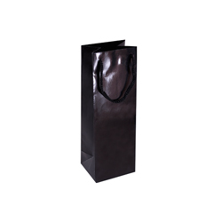 Black Wine Bottle Bag