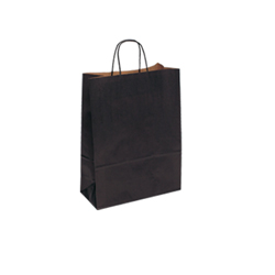 Small Black Kraft Paper Carrier Bag