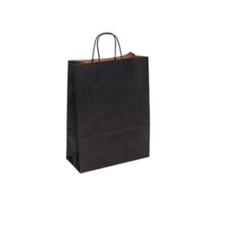 Small Black Kraft Paper Carrier Bag