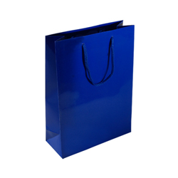 Medium Royal Blue Paper Bag