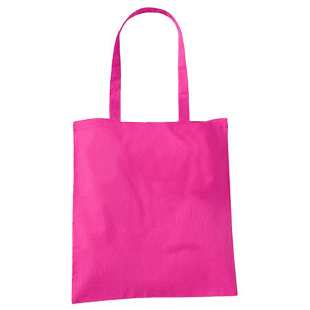 Fuchsia Cotton Bags Long Handles