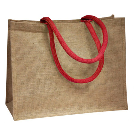 Jute Bags With Red Padded Handle