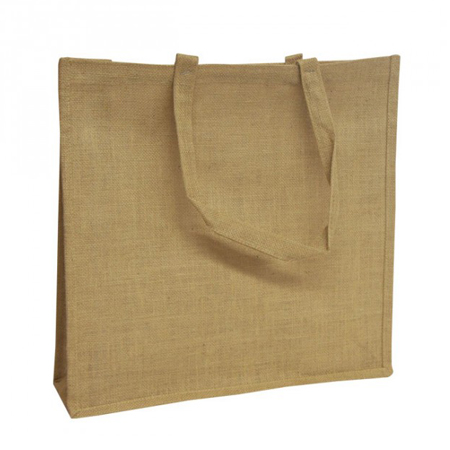 Natural Jute Bags With Self Loop Handles