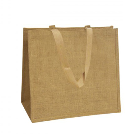 Natural Jute Bags With Soft Web Handles