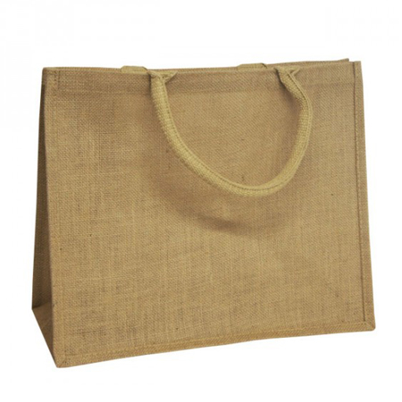 Padded Handle Natural Jute Bags