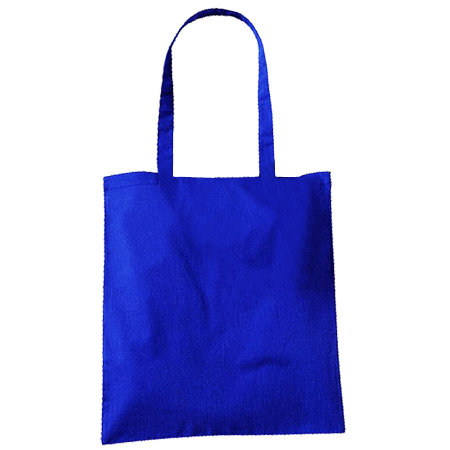 Large Royal Blue Cotton Bags
