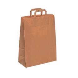 Kraft Paper Carrier Bags Flat Tape - 22x36x10.5cm
