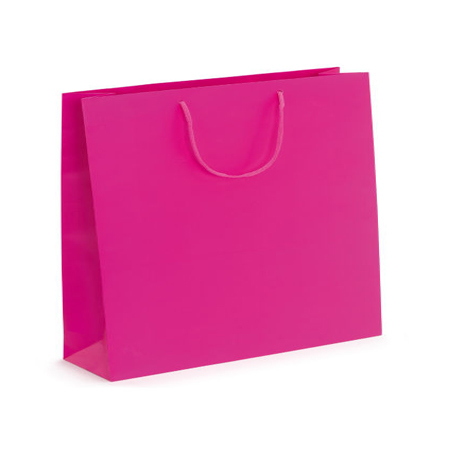 Large Fuchsia Matt Laminated Paper Bags