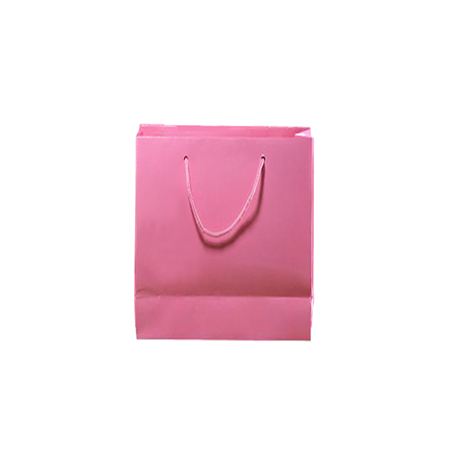Small Matt Laminated Paper Bags with Rope Handles-15x20x8cm