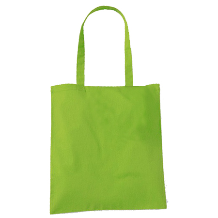 Lime Green Cotton Bags Long Handles