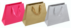 Pyramid Gift Bags Matt Laminated with Ribbon Handles 33-23 x 25 x 12