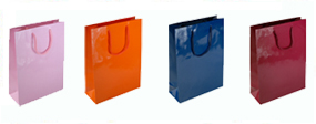 Extra Small Tiny Gloss Laminated Rope Handle Paper Bags-11x15x7cm