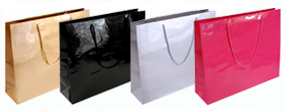Extra Large Giant Gloss Lamainted Rope Handle Paper Bags-56x46x15cm