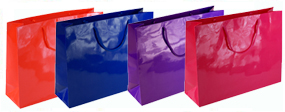 Large Gloss Laminated Rope Handle Paper Bags-43x33x13cm