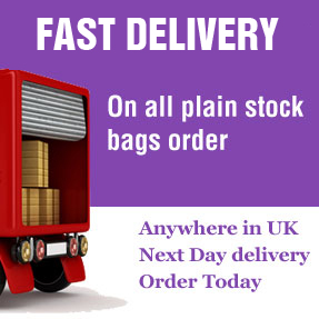 Free Delivery on all plain stock bags order over £200