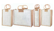 Eco Friendly Jute Carrier Shopping Bags